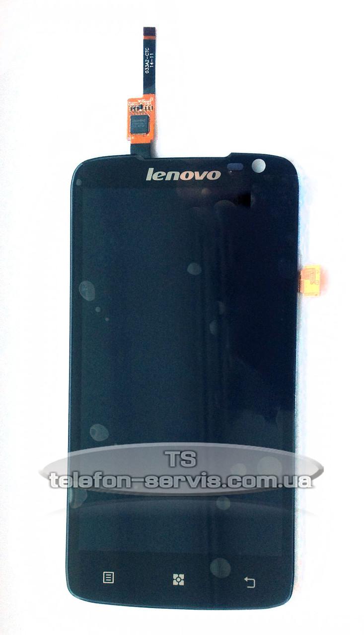 Дисплей Lenovo S820, черный, с тачскрином
