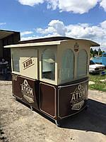 Киоск Трамвай Коричневый (МАФ)