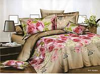 3D Полуторное постельное белье Amika розы