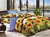 3D Двоспальне постільна білизна Amika соняшники