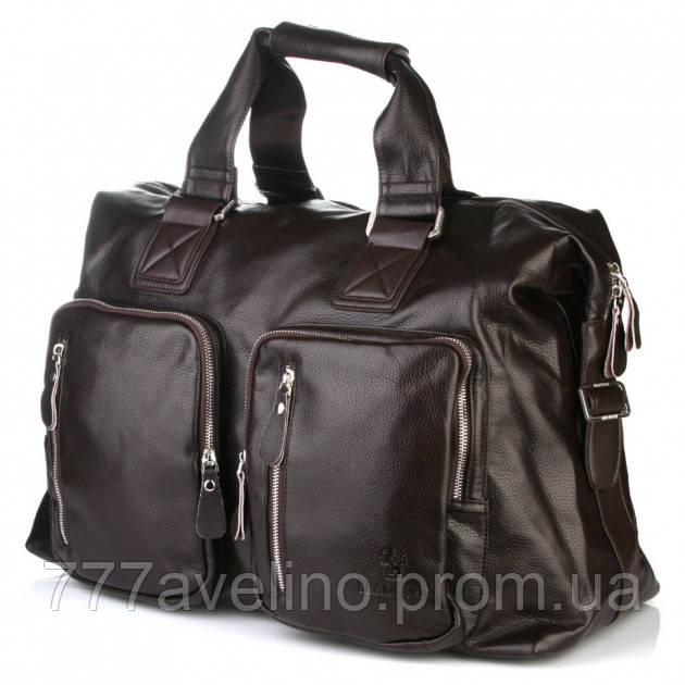 Мужская сумка дорожная bradford 66268 коричневая