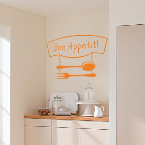 Интерьерная виниловая наклейка Bon Appetit