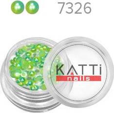 KATTi Жемчуг банка смола Pearls 7326 salad-emerald 3мм 0,5g 70шт