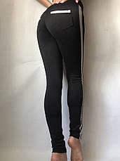 Лосины женские  с кожаными вставками №31/3 (норма), фото 3