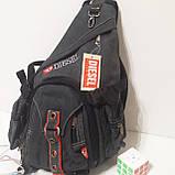 Городской рюкзак на одно плечо Diesel gray, фото 3
