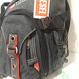 Городской рюкзак на одно плечо Diesel gray, фото 4
