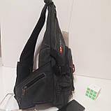 Городской рюкзак на одно плечо Diesel gray, фото 5