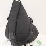 Городской рюкзак на одно плечо Diesel gray, фото 8