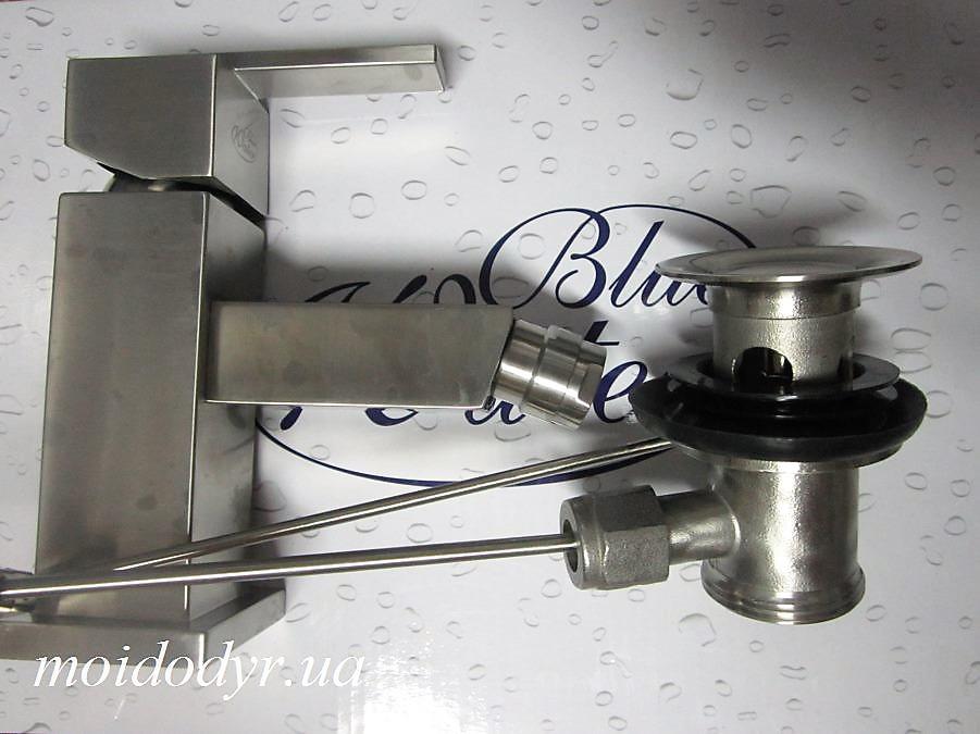 Змішувач для біде (умивальника) Blue Water Sidney SYD-BB.040SN (нержавіюча сталь)