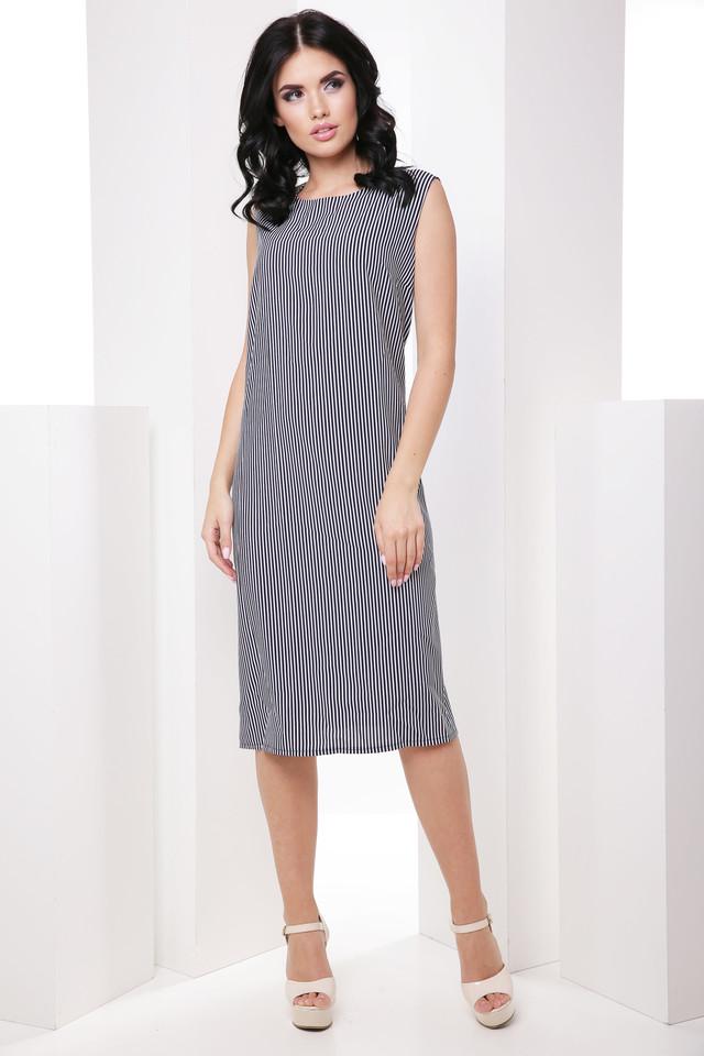 acba5daad154685 Актуальное классическое платье без рукава с круглым вырезом горловины,  изделие в больших размерах из тонкой летней ткани