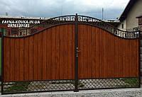 Ворота с ковкой, закрытые  5225