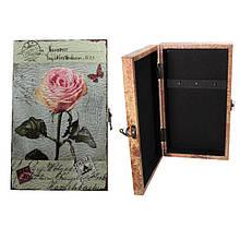 Деревянная ключница Розы настенная