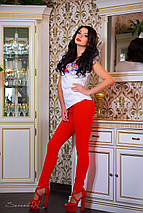Женская футболка с цветами на груди (0764-0763 svt), фото 3