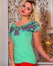 Женская футболка с цветами на груди (0764-0763 svt), фото 2