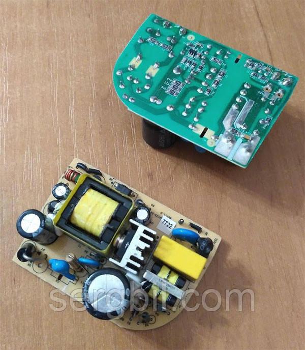 OPS1202-1 блок питания бескорпусной 12В/2А, пит.100-240В, 70х48х25мм, IP00, б/у