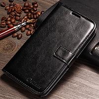 Кожаный чехол-книжка для Samsung Galaxy Note 2 N7100 черный