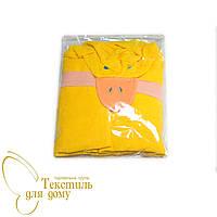 Полотенце-накидка детская с капюшоном, утенок