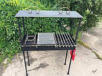Мангал кованый садовый разборной на 18 шампуров сталь 4 мм + Крыша
