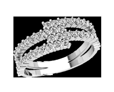 Кольцо  женское серебряное Бриллиантовая полоса 21152