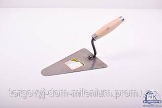 Кельма малярная треугольная узкая с металлическим наконечником 190 мм. 13V105