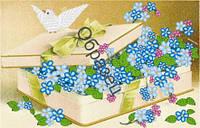 Схема для вышивки лентами  «Цветы для любимой»
