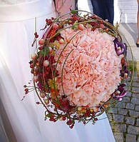 Букет невесты на каркасе