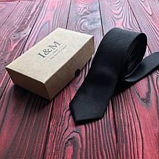 Галстук I&M Craft узкий чёрный (020301), фото 2