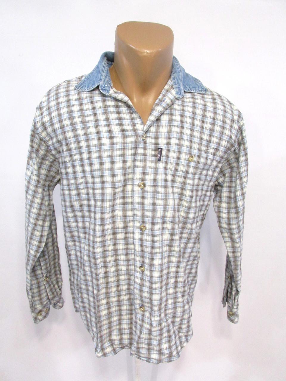 Рубашка винтажная Basic Line, 170 (40, M), клетка, Оч хор сост!