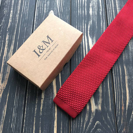 Галстук I&M Craft Вязаный красный (020206), фото 2