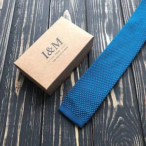 Галстук I&M Craft вязаный голубой (020208), фото 2