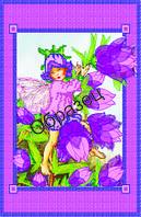 Схема для вышивки лентами и бисером «Цветочный всадник»
