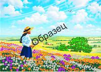 Схема для вышивки лентами «Поля цветов»