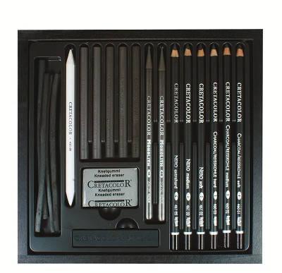 Набор карандашей для рисунка Black Box 20шт. дер упаковка Cretacolor, фото 2