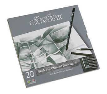 Набор карандашей для рисунка Black Box 20 шт. мет упаковка Cretacolor