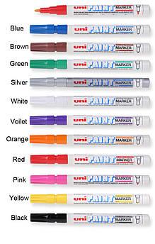 Маркер uni PAINT 0.8-1.2мм белый