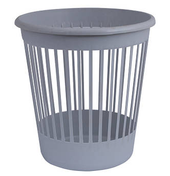 Корзина офисная для бумаг 10 л. пластик серый