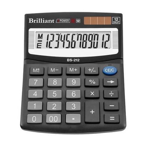 Калькулятор Brilliant 12 разрядов 2-питан. BS-212, фото 2