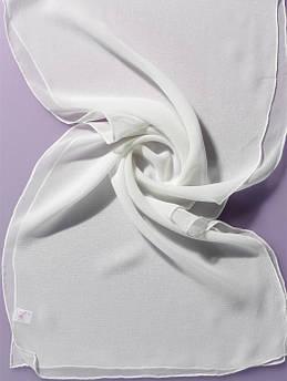 Платок Белый 90x90 100%шелк Ideen 300