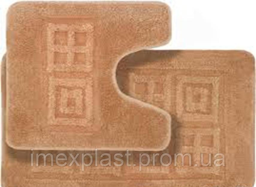 Набор ковриков для ванной (прорезиненная основа) 50x80см - (Турция)