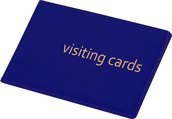 Визитница Panta Plast 24 визиток PVC т-синий 0304-0001-02
