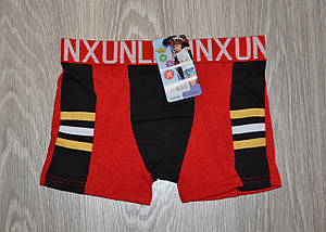Трусики боксеры детские (А-09) хлопок красные XL 110-116 см