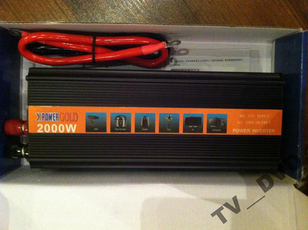 Преобразователь авто инвертор 12V-220V 2000W USB