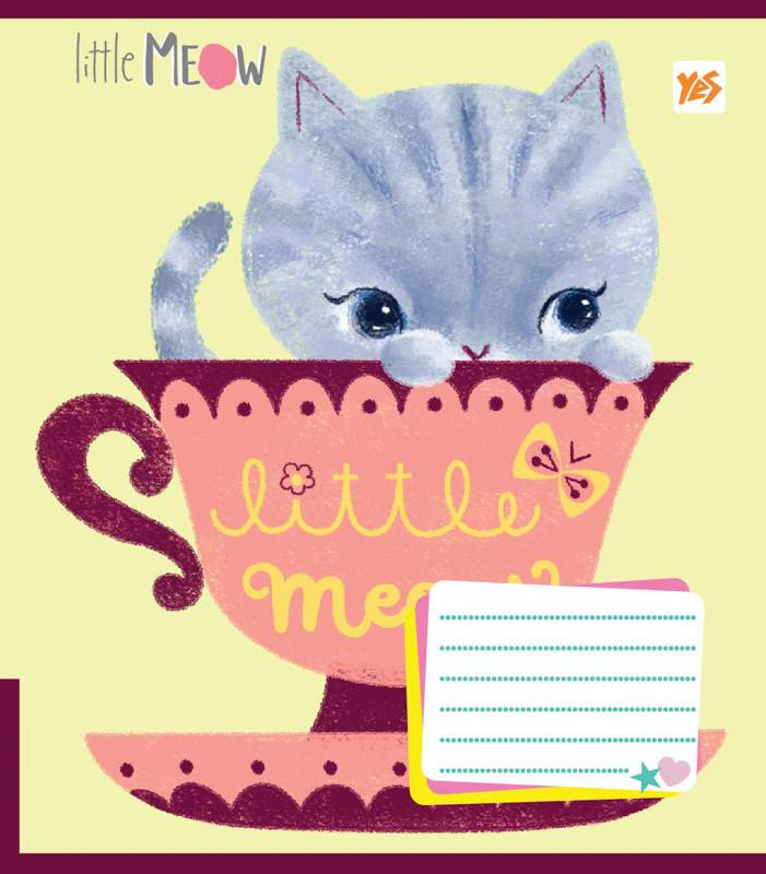 Тетрадь в клетку 12 л. Yes А5 Little Meow Tenderness 761318