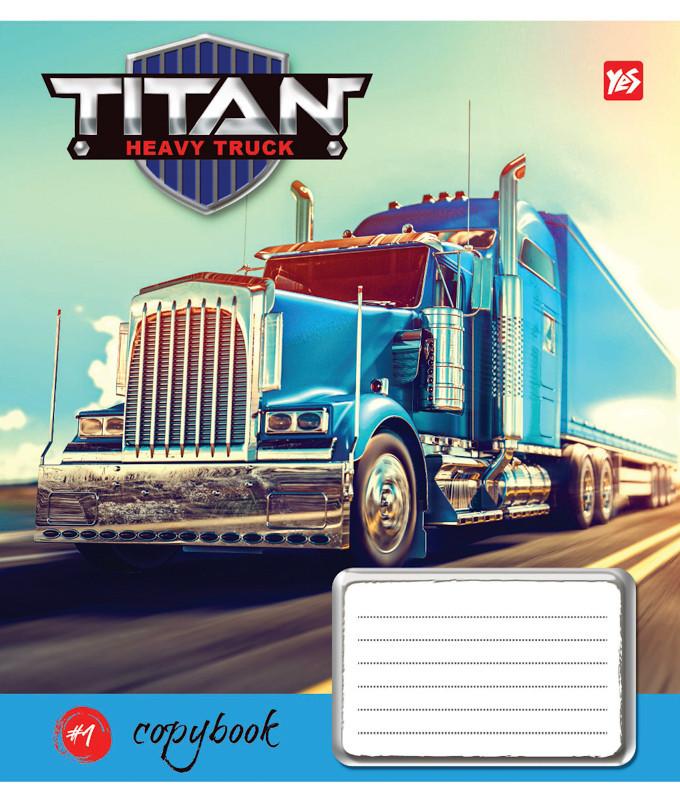 Тетрадь в клетку 12 л. Yes А5 Titan Truck 761352