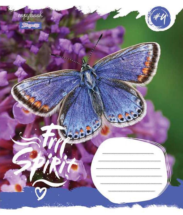 Тетрадь в косую 12 л. 1 Вересня А5 Butterfly Spirit 761877