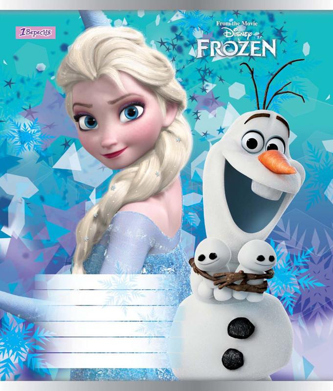 Тетрадь в косую 12 л. 1 Вересня А5 Frozen-2018 761836