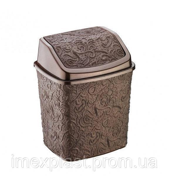 """Ведро для мусора 5 л - 23*19*28 см - (Турция) TM """"Elif Plastik"""""""