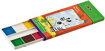 Акварель 12 цветов без кисти картонная каробка ZB.6501