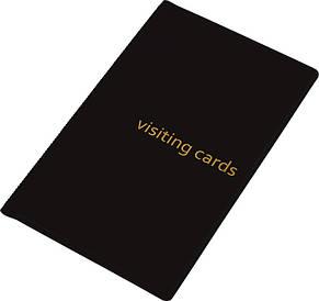 Визитница Panta Plast 60 визиток PVC черная 0304-0003-01