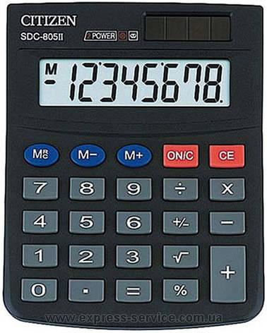 Калькулятор Citizen  8 разрядов SDC-805II, фото 2